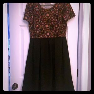 Floral & Black Amelia Dress